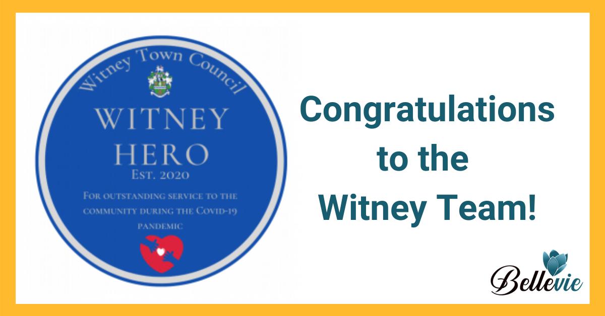 Witney Team Receive Covid-19 'Witney Hero' Award